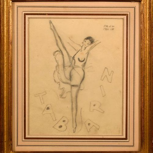 """Paul COLIN (1892 1985)  """"Tabarin""""  Pencil on tracing paper, signed Paul Colin on…"""