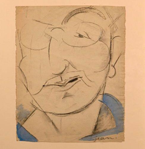 """Jean COCTEAU (1889 1963)  """"Portrait of Léon Bakst (1866 1924)""""  Charcoal and wat…"""