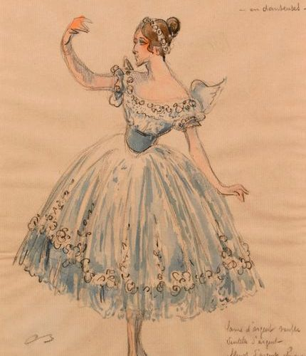 """Attributed to Alexandre BENOIS (1870 1960)  """"Fanny Essler and the Santelli""""  Wat…"""