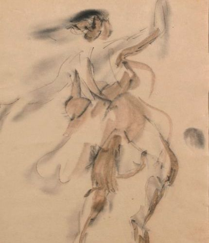 "Berthe MARTINIE (1883 1958)  ""Isadora Duncan (1877 1927)""  Ink, wash drawing, an…"