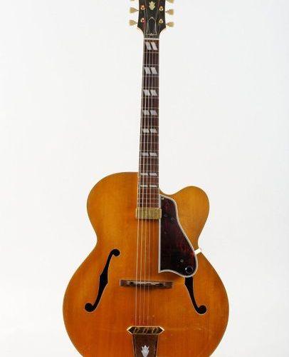 Guitare électrique Archtop de marque Gibson modèle L7 CN, 1953 n° de sérieA13936…