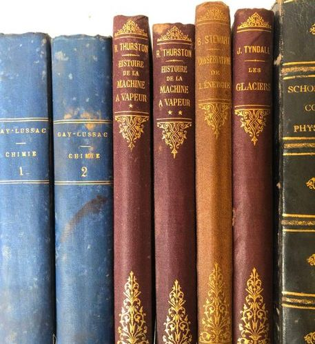 Set of 9 19th century volumes on science including  Gay Lmussac, Chemistry  Hist…