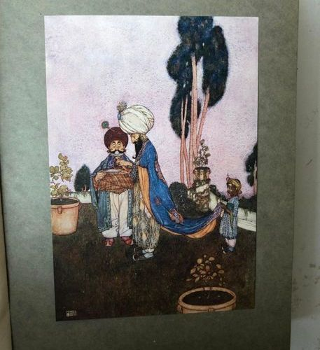 Lot comprising  Les Contes de Mille et une Nuits, adapted by Hadji Mazeln illust…