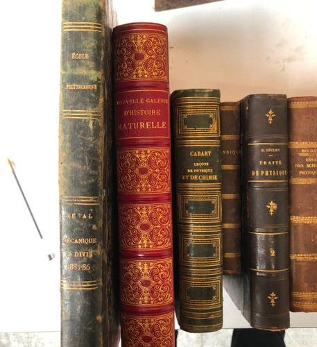 Lot of 14 19th and 10th century books on science