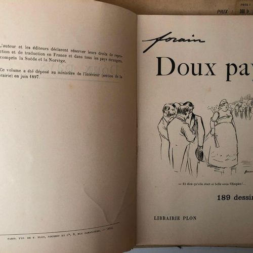 Around FORAIN, 4 volumes including  J L FORAIN, Les temps difficiles, Paris 1893…