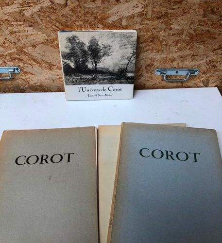 """A.Schoeller and J.Dieterle, COROT, 1st and 2nd supplement to """"L'œuvre de Corot"""",…"""