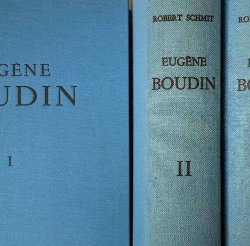 Robert SCHMT, Eugène BOUDIN 1824 1898, Paris 1973, 3 Volumes and a supplement, i…