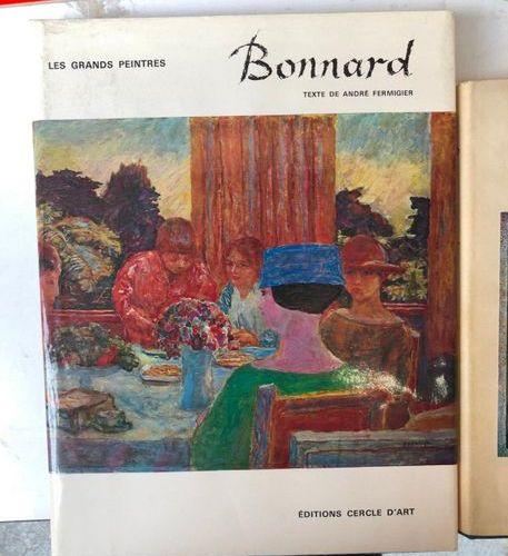 Lot comprising  BONNARD, Editions Cercles d'art  H.Dorra and J Rewald, SEURAT, L…
