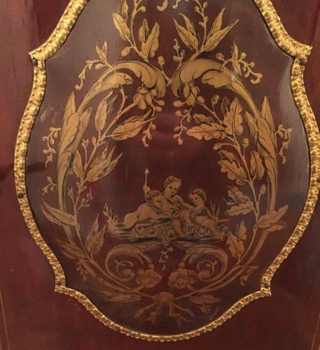 Happiness of the day in richly decorated wood with gilded bronze inlays  Louis X…