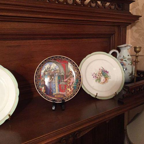 Set includes 2 candle holders, 1 jug, 3 decorative plates, 1 jug, Metal vase mou…