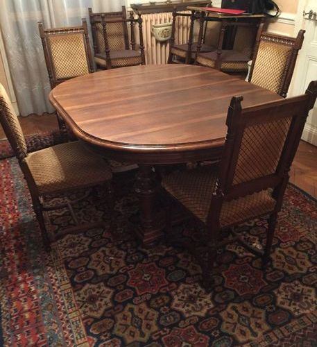 GOUMAIN Frères: Important dining room furniture in carved and molded wood of Ren…