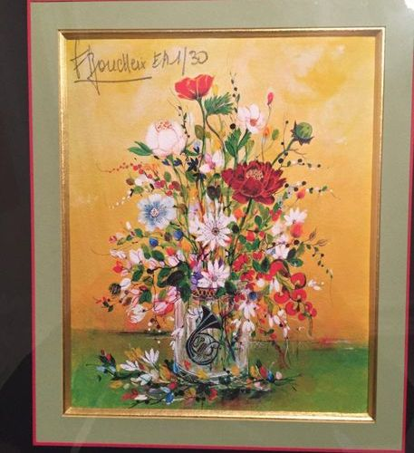 François BOUCHEIX ( Born in 1940)  Bouquet of flowers  Lithograph signed and num…