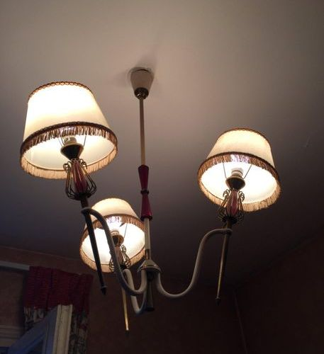 50's chandelier with 3 light arms