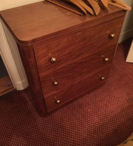 ART DECO furniture comprising  a bedside table, 1 wardrobe, 1 Cosy, 1 chest of d…