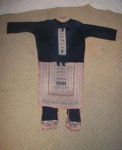 Yao coat, China, indigo cotton and geometric embroidery (yoke).