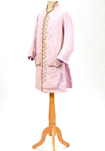 French style dress jacket, Provence, 18th century, pale pink cotton boutisse wit…