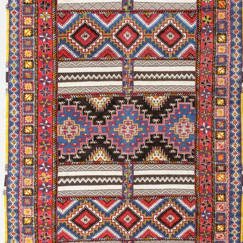 Original and large Rabat carpet (North Atlas Morocco, North Africa) mid 20th cen…