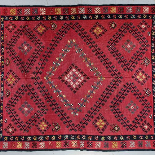 Exceptional, original and important Kilim Sarkoy (pronounced Charkoy) end of XIX…