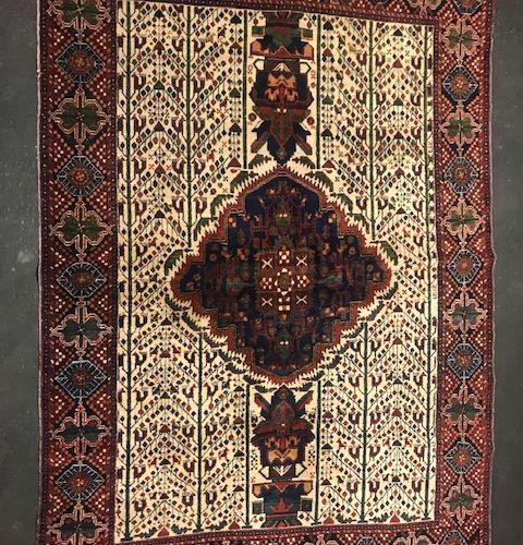 Fine and old Afchar (Iran) around 1920/1930.  Dimensions : 204 x 145 cm  Technic…