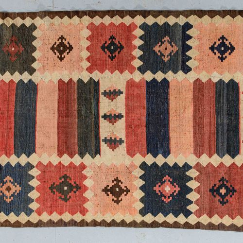 Original and large Kilim bidjar (Iran, Loristan region) circa 1960/70.  Dimensio…