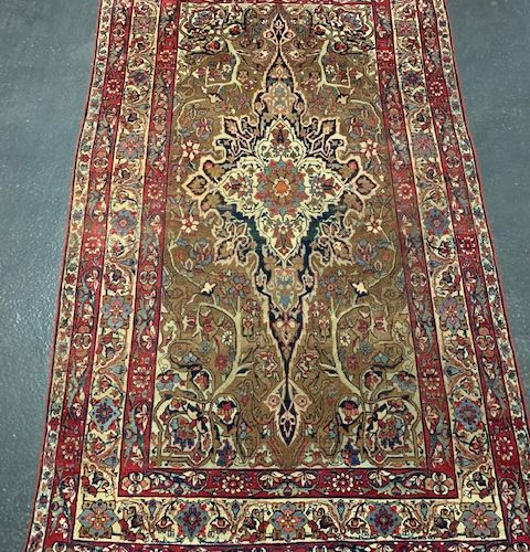 Exceptional, fine and very old Kirman Laver (Persia) circa 1860.  Collector's it…