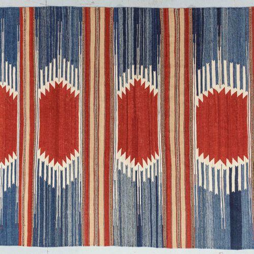 Large Iranian Kilim circa 1980  Size. 300 x 204 cm  Technical characteristics : …