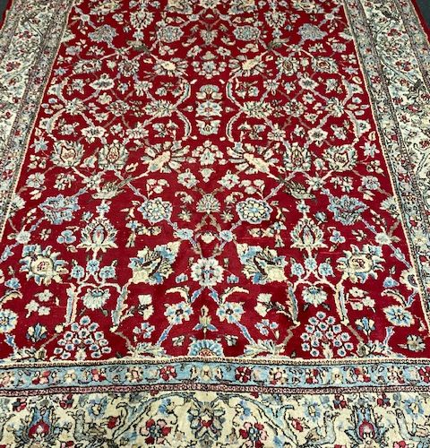 Important and fine Kirman (Iran) mid 20th century.  Decorated with a thousand fl…