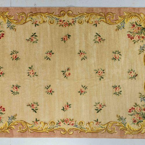 Large Janus stitch carpet ( workshop in the North of France ) around 1960  Dimen…