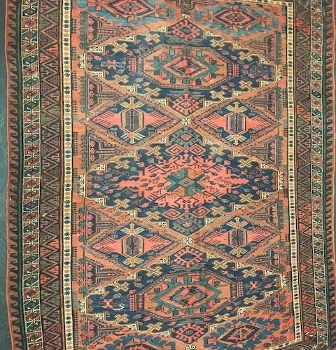 Old Soumak (Caucasus) end of XIXth century.  Dimensions : 200 x 153 cm  Technica…