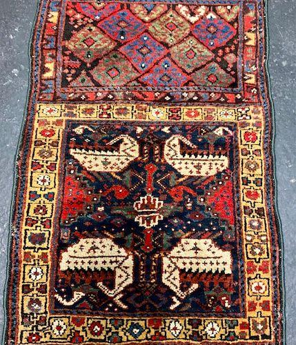 Rare and original Yastik Shahsavan (Kurdish) late 19th century.  Collector's ite…