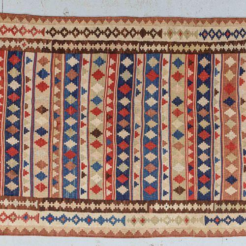 Original and fine Kilim Quasgai (Iran) mid 20th century.  Size. 325 x 145 cm  Te…