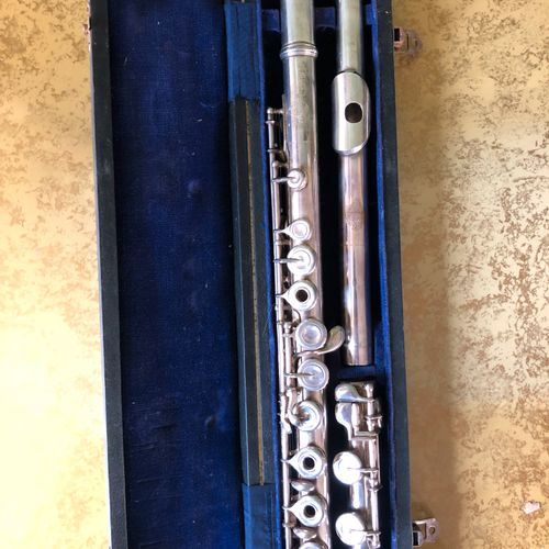 Silver plated flute by BUFFET in Paris