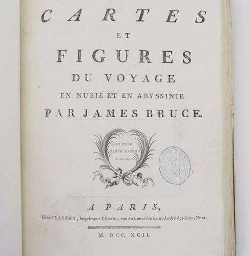 Africa BRUCE (James). Travels in Nubia and Abyssinia, undertaken to discover the…
