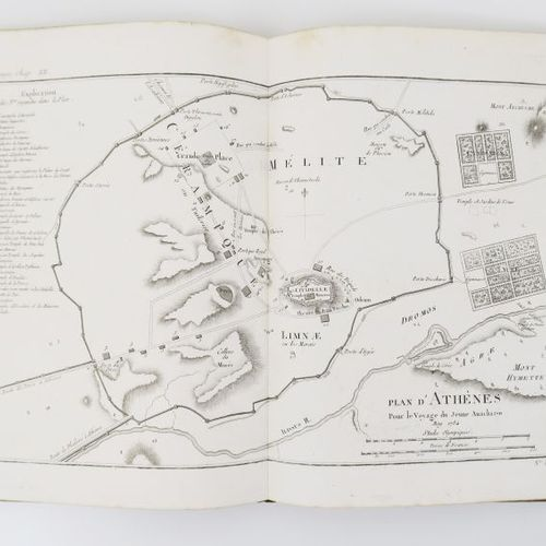 Greece BARTHÉLEMY (Abbot Jean Jacques). Collection of Maps, Plans, Views and Med…