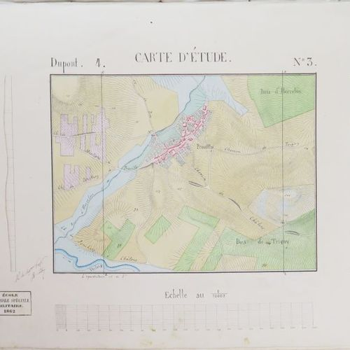 [ST. CYRUS]. Atlas of 24 drawings and watercolours for some of them by a pupil (…