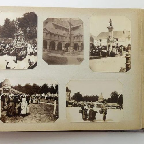 Brittany & Sarthe Photographs. Album of 340 photographs around 1900, mostly in 0…