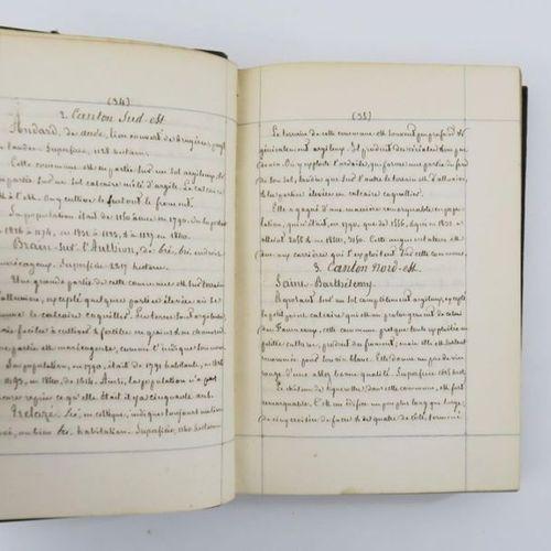 Maine et Loire Manuscript DESVAUX (Auguste Nicaise). Statistical essay on the co…
