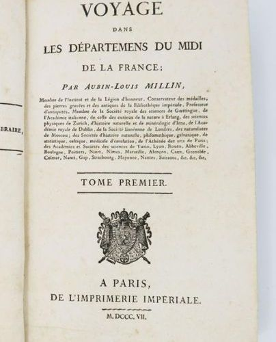 Provence MILLIN (Aubin Louis). Travel in the Departments of the South of France.…