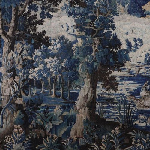 France Aubusson tapestry decorated with birds in an 18th century undergrowth Siz…