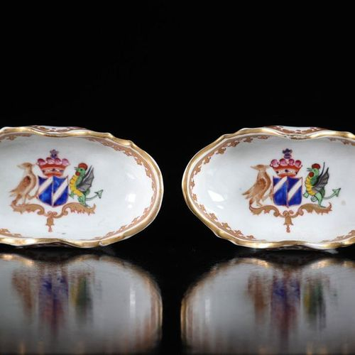 China Compagnie des Indes pair of 18th century porcelain salt shakers Sizes: h65…