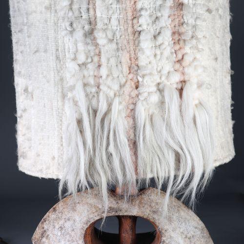 Christian PRADIER (né en 1949) Important pied de lampe . Épreuve en céramique im…