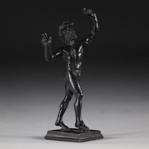 Faune en bronze à patine noire Italie vers 1900 Faune en bronze à patine noire I…