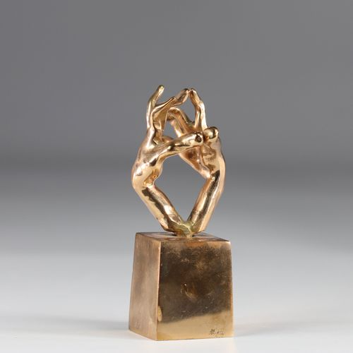 "Yves LOHE sculpture en bronze ""les mains"" Yves LOHE sculpture en bronze ""les mai…"