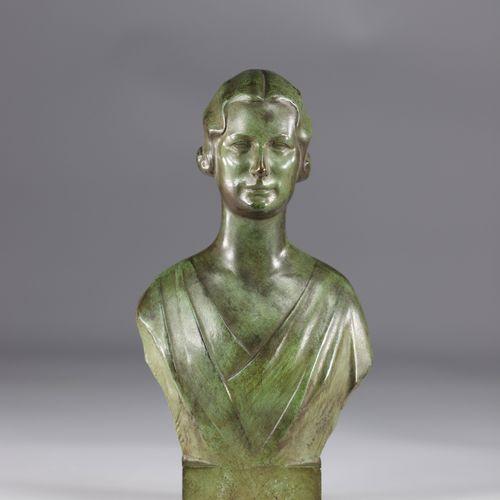 Victor DEMANET (1895 1964) Reine Elisabeth de Belgique sculpture en bronze Victo…