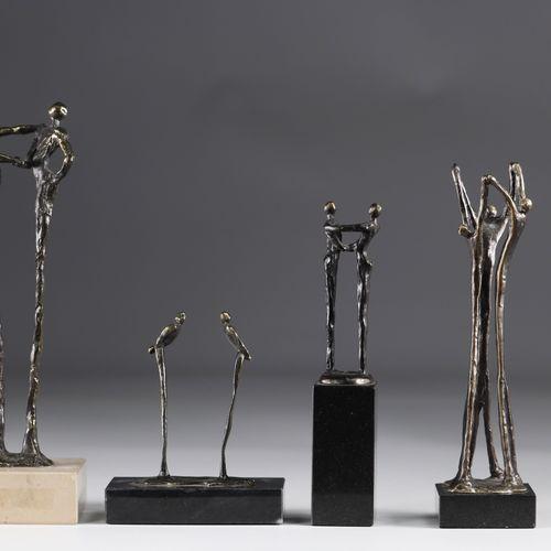 Lot de sculpture en bronze 70's Lot de sculpture en bronze 70's Dimensions: H= d…