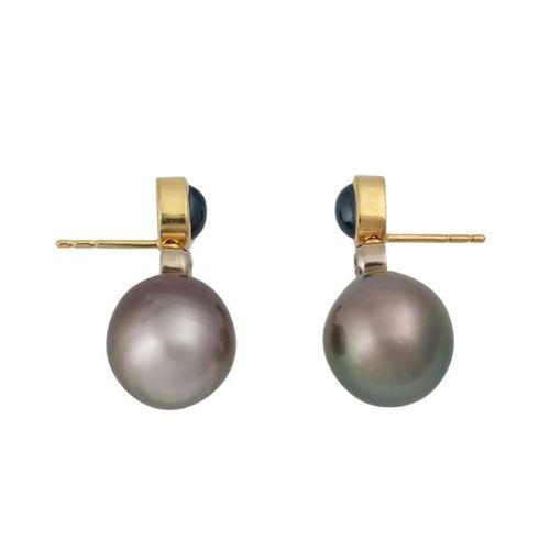 Ohrringe mit Brillanten, zus. Ca. 0,2 ct, Boucles d'oreilles avec des diamants t…