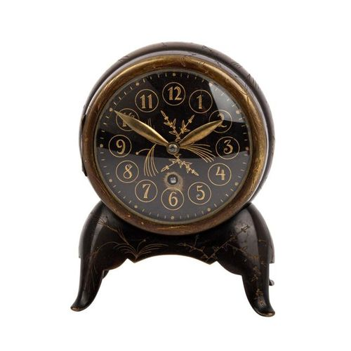 KLEINE LENZKIRCH TISCHUHR IM ASIATISCHEN STIL SMALL LENZKIRCH TABLE CLOCK IN THE…