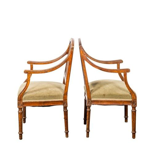 Louis XVI Sitzgruppe LOUIS XVI SEATING GROUP end of the 18th century, wood, carv…