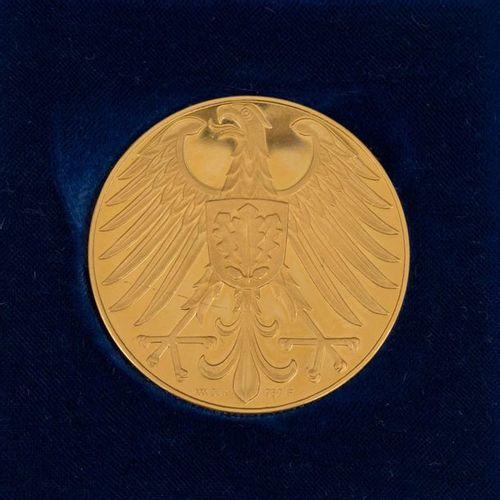 BRD Goldene Gedenkmedaille zu 30 Dukaten o.J. (1959), FRG Gold commemorative med…