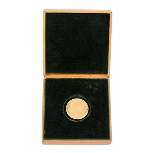 BRD Goldene Gedenkmedaille 1963, FRG Golden commemorative medal 1963, 14 years F…